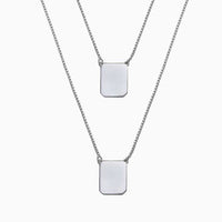 WHITE BOX CHAIN SCAPULAR NECKLACE