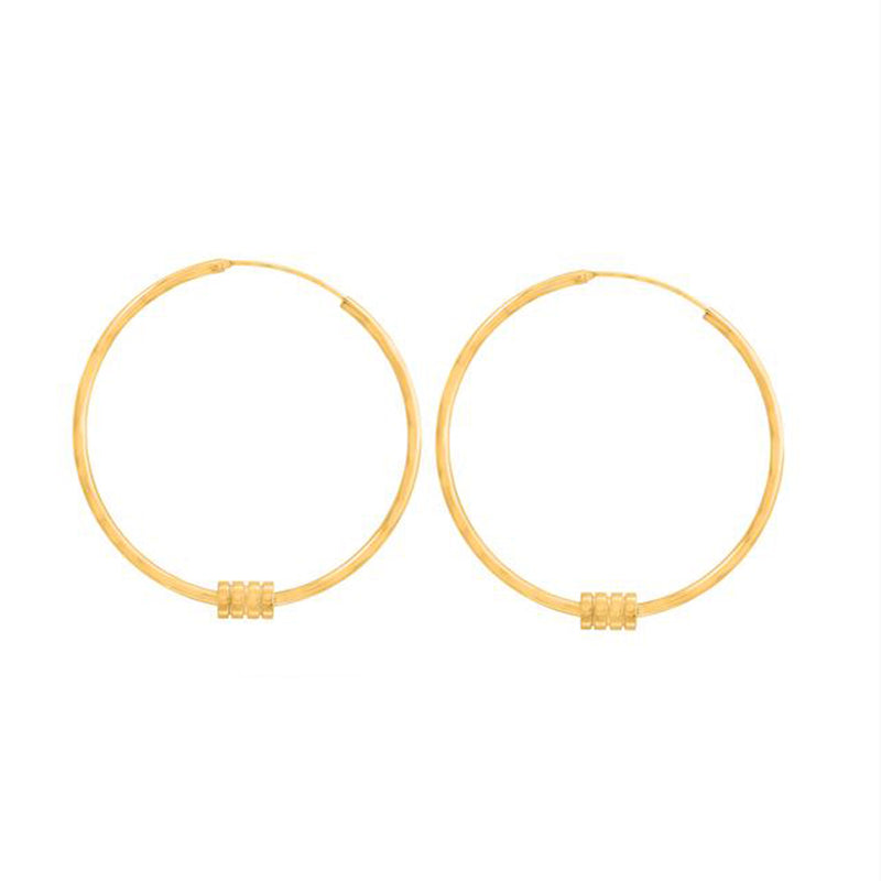 LINKS HOOPS EARRINGS, EARRINGS, ALICE WANG, SEVEN50 GROUP USA - SEVEN-50.COM