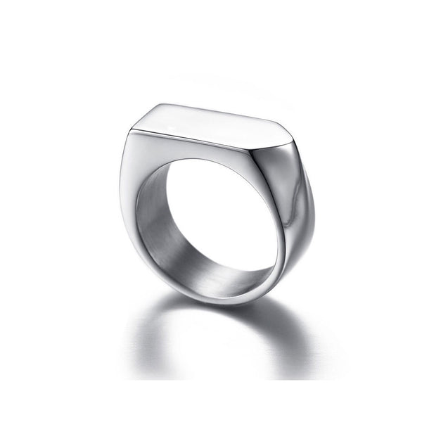 SQUARE BAND SIGNET RING