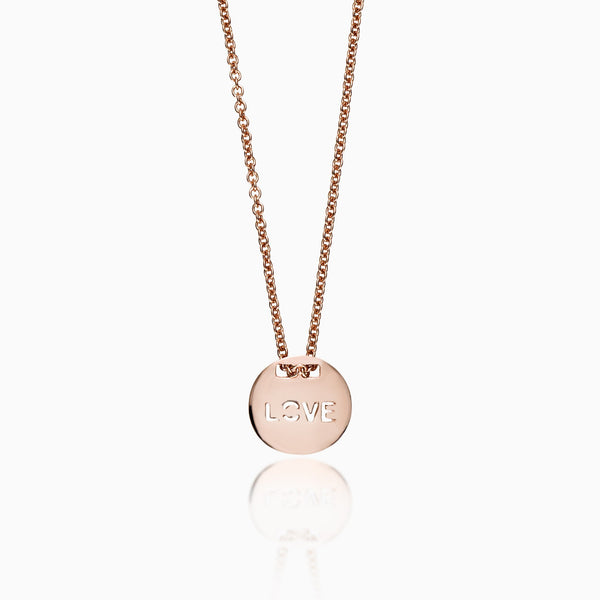 CIRCLE LOVE CHARM NECKLACE