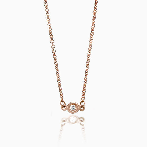 SOLITAIRE DIAMOND BY THE YARD PENDANT NECKLACE