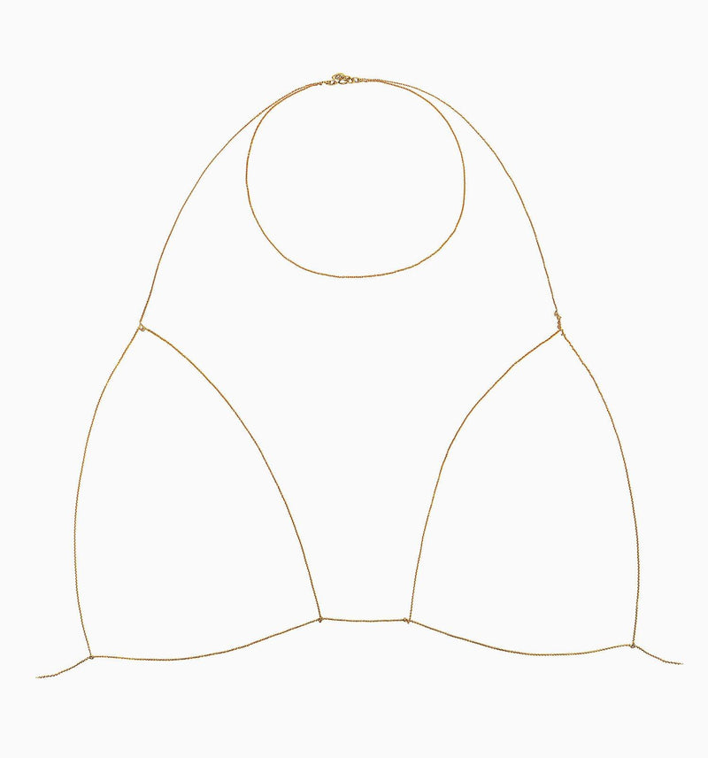 Necklace - YELLOW BRA CHAIN by MUSE for SEVEN50
