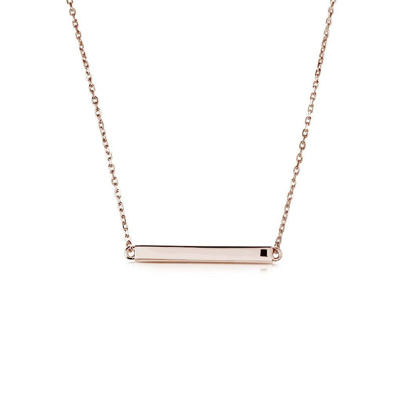 LINEAR BAR ROSE NECKLACE, NECKLACES, JAYE KAYE, SEVEN50 GROUP USA - SEVEN-50.COM