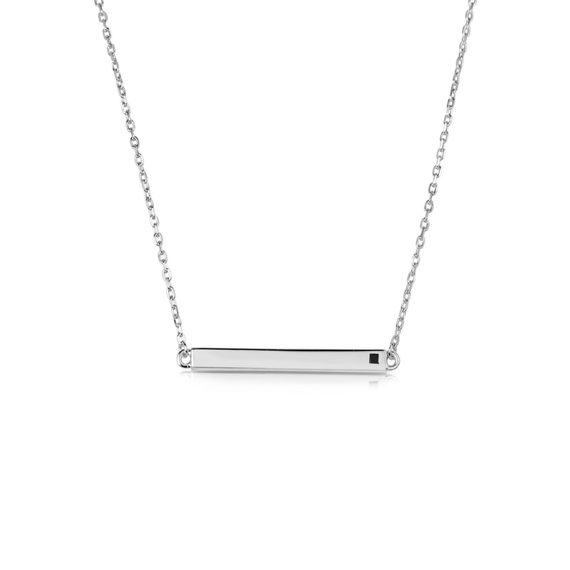 LINEAR BAR WHITE NECKLACE, NECKLACES, JAYE KAYE, SEVEN50 GROUP USA - SEVEN-50.COM