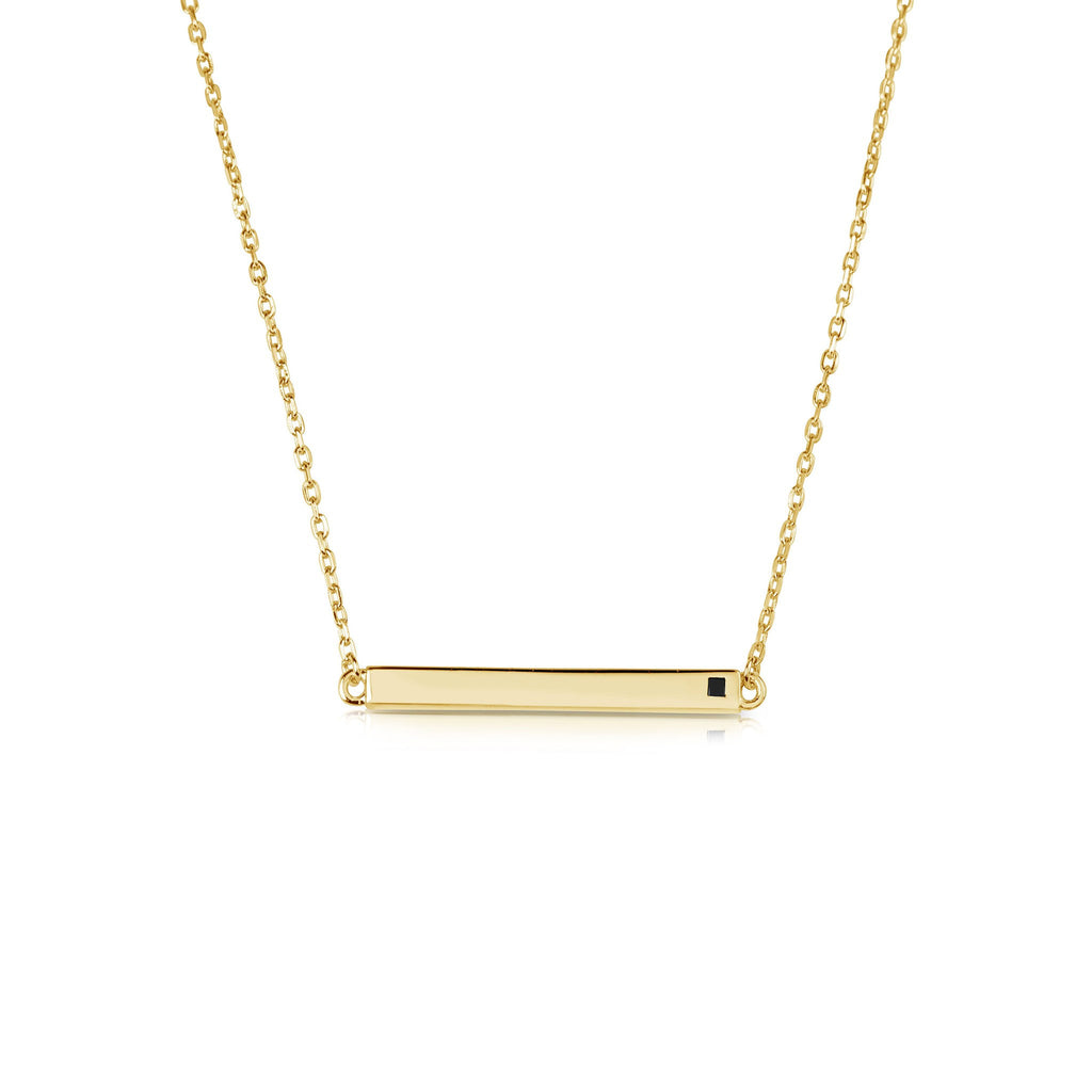 LINEAR BAR YELLOW NECKLACE, NECKLACES, JAYE KAYE, SEVEN50 GROUP USA - SEVEN-50.COM