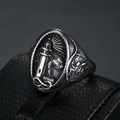 oval-shape-lighthouse-signet-ring-in-stainless-steel