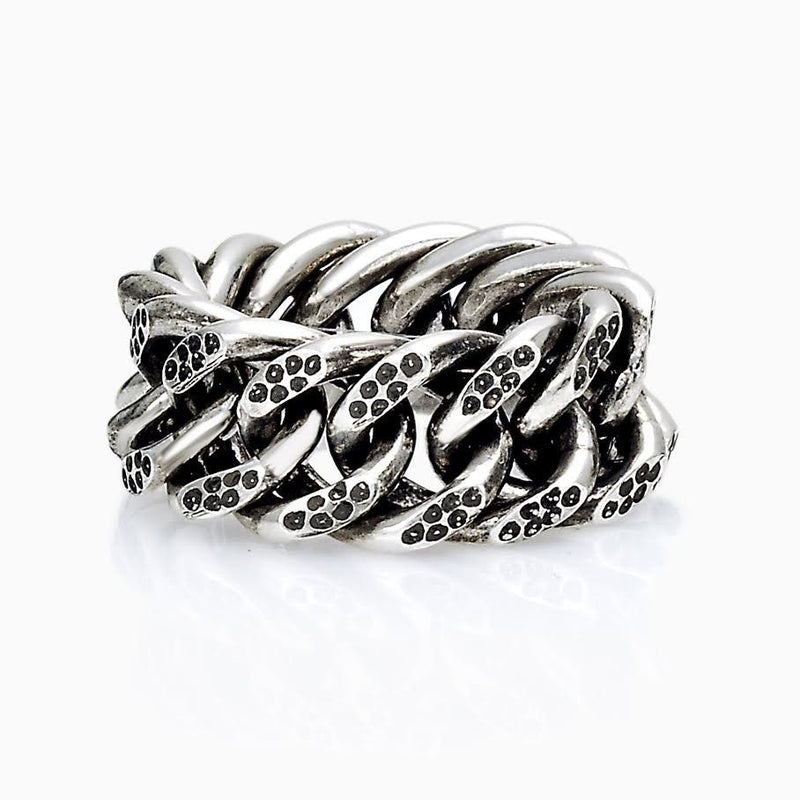 RING - ROCK GOURMETTE RING SEVEN50 FASHION MEN ACCESSORY STERLING SILVER 925 SILVER MADE IN ITALY
