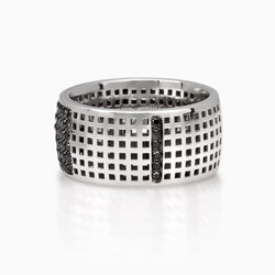 RING - SQUARE BAND DIAMONDS by SEVEN50