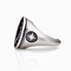RING - STORM RING SEVEN50 STERLING SILVER 925 SILVER FASHION MEN ACCESSORY JEWELRY
