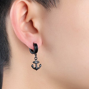 seven50 anchor mens earring white still 2
