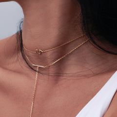 CHOKER SNAKE NECKLACE