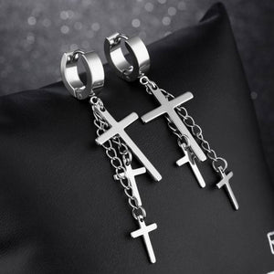 stainless-steel-men-women-triple-cross-pendant-hoop-earrings-by-seven50