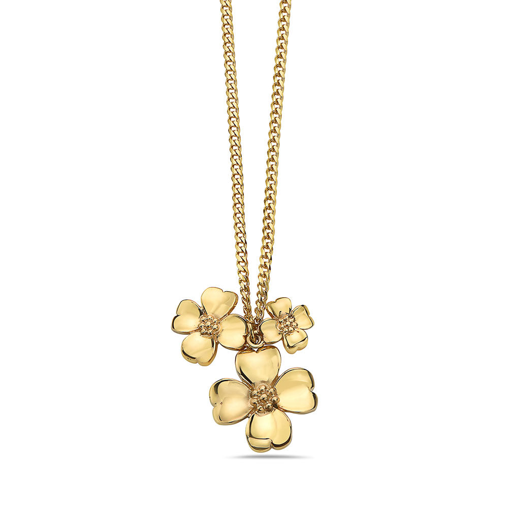 tomas-skoloudik-yellow--stainless-steel-flower-garder-leaves-triple-pendants-necklace-with-curb-link-chain-necklace--by-seven50-8