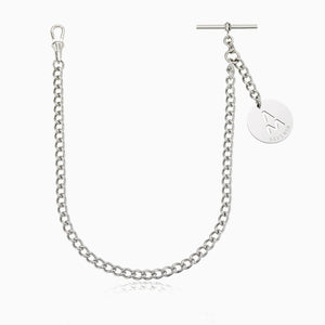 MEN'S STAINLESS STEEL SINGLE CURB VEST CHAIN WITH PENDANT, Wallet Chain, ANDREA MELCHIORRE, SEVEN50 GROUP USA - SEVEN-50.COM