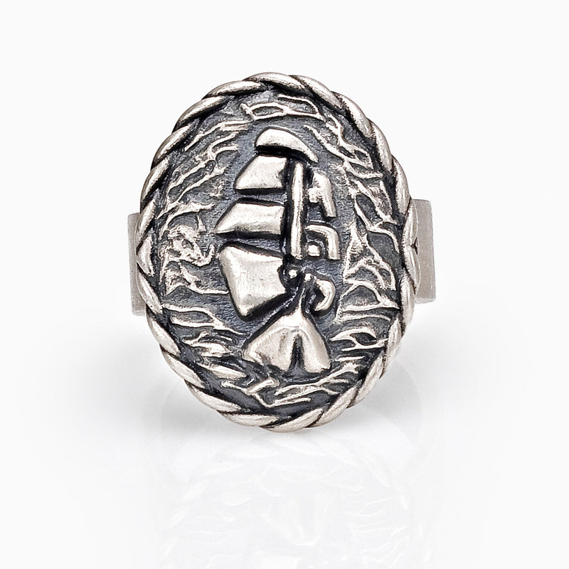 WOMEN RING - SAILOR RING STERLING SILVER ACCESSORY JEWELRY ARROW COLLECTION MADE IN ITALY SEVEN50