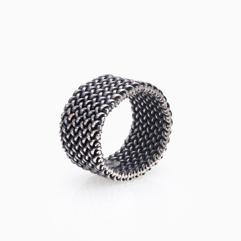 WOMEN RING - SMALL LIGHT MESH RING