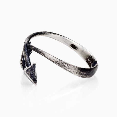 "WOMEN RING - ""X"" ARROW RING STERLING SILVER ACCESSORY JEWELRY ARROW COLLECTION MADE IN ITALY SEVEN50"