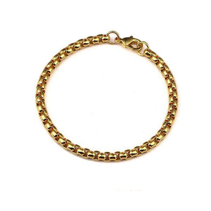 4mm ROUND BOX CHAIN BRACELET