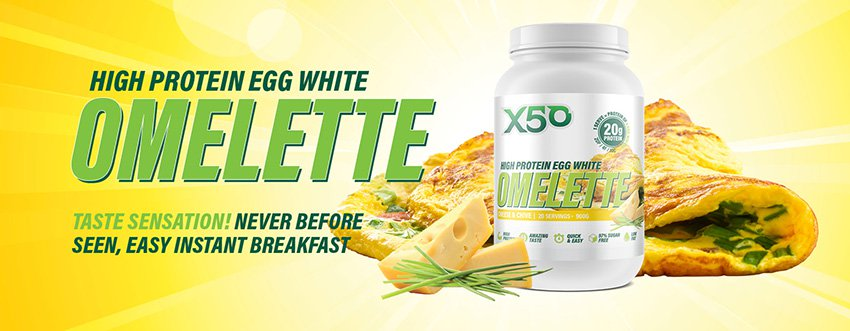 second to none nutrition X50 High Protein Egg White Omelette