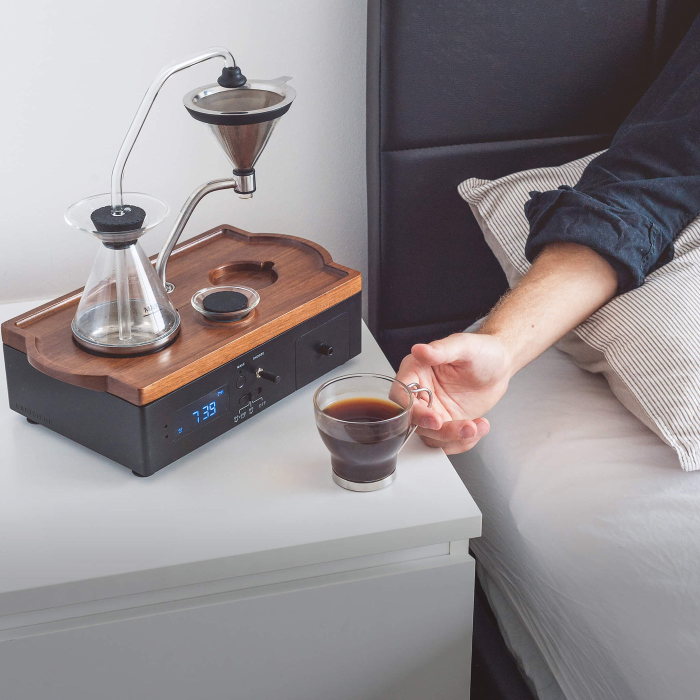 Shop Barisieur Coffee Alarm Clock from Burton Blake