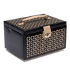 WOLF Chloe Medium Jewellery Box with Travel Case - Black by Burton Blake