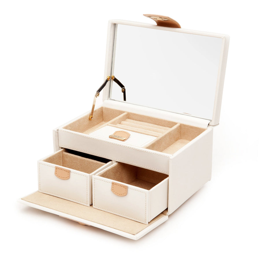 WOLF Chloe Small Jewellery Box - Cream by Burton Blake