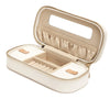 WOLF Chloe Zip Jewellery Box - Cream by Burton Blake