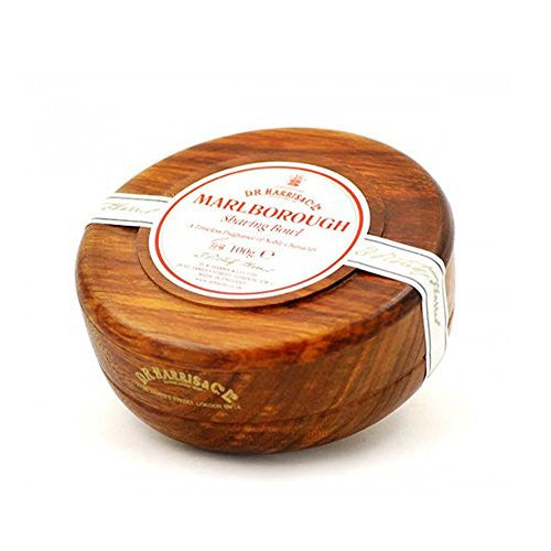 DR Harris Marlborough Wood Shaving Bowl - Mahogany 100g by Burton Blake