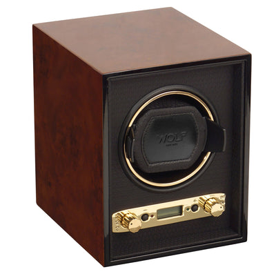 WOLF Meridian Single Watch Winder Burl by Burton Blake