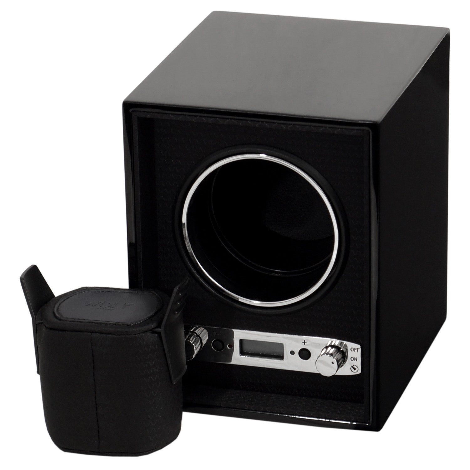 WOLF Meridian Single Watch Winder Black by Burton Blake
