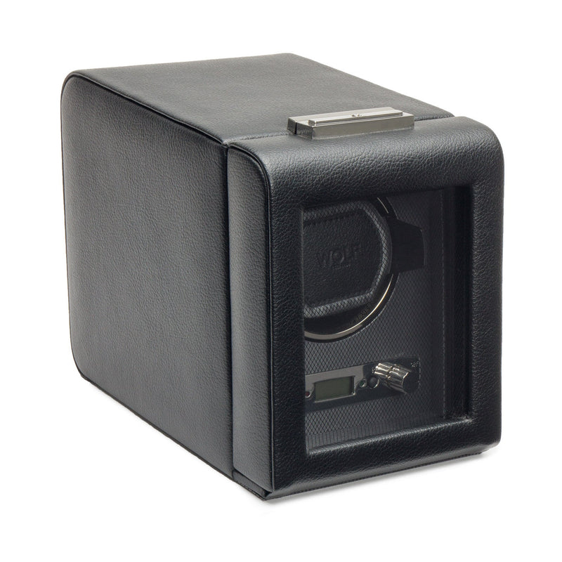 WOLF Viceroy Single Watch Winder Black by Burton Blake