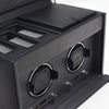WOLF Viceroy Double Watch Winder with Storage Black by Burton Blake