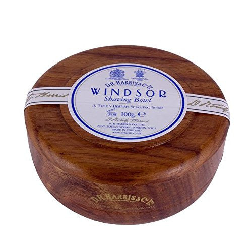 DR Harris Windsor Wood Shaving Bowl - Mahogany 100g by Burton Blake