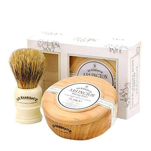 DR Harris Arlington Wood Shaving Bowl Gift Set - Beech by Burton Blake