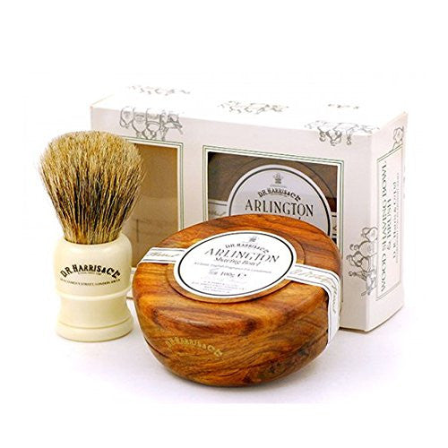 DR Harris Arlington Wood Shaving Bowl Gift Set - Mahogany by Burton Blake