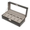 WOLF Heritage 5pc Watch Box Black by Burton Blake