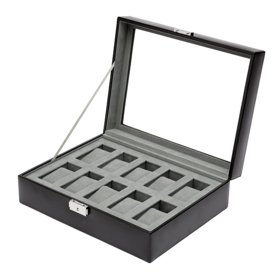 WOLF Heritage 10pc Watch Box Black by Burton Blake