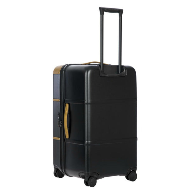 Bric's Bellagio 4 Wheel Travel Trunk 75cm Black and Brown