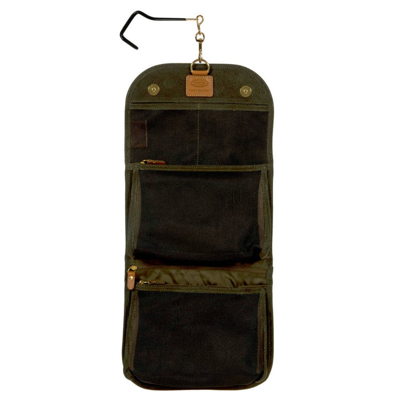 Bric's Life Tri-Fold Overnight Toiletry Case Olive