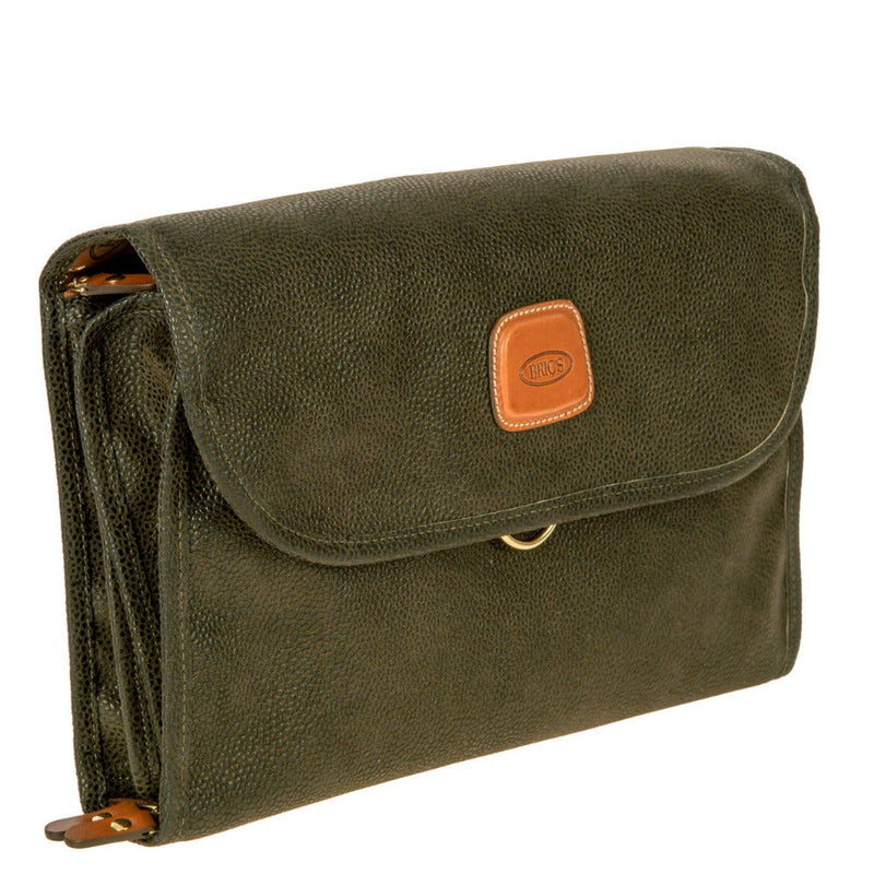 Bric's Life Tri-Fold Toiletry Bag Olive