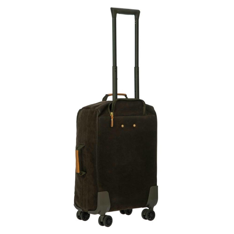 Bric's Life 4 Wheel Cabin Trolley Soft Case 55cm Olive