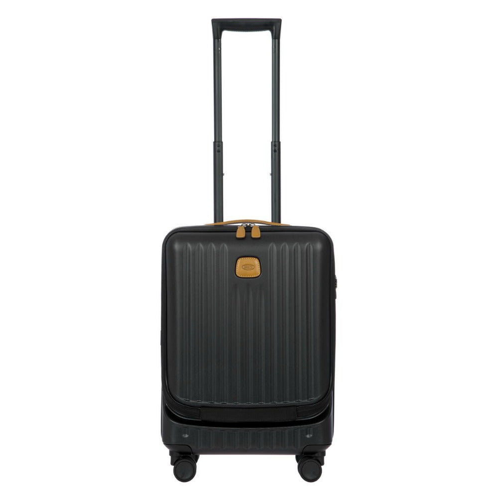 Bric's Capri 4 Wheel Cabin Trolley Case with Pocket 55cm Black