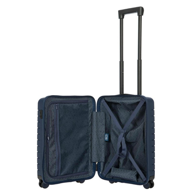 Bric's BY Collection Ulisse 4 Wheel Hard Cabin Trolley Case 55cm Ocean Blue