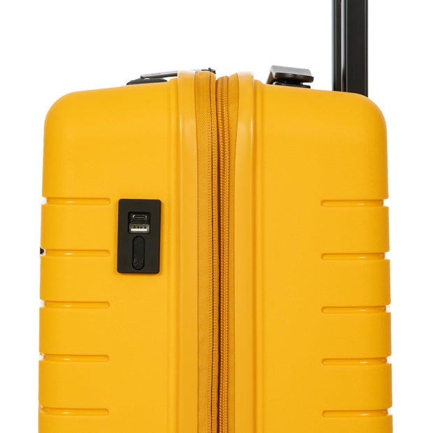 Bric's BY Collection Ulisse Expandable 4 Wheel Hard Cabin Trolley Case 55cm Mango