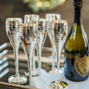Culinary Concepts Pair of Silver Plated Hammered Champagne Goblets