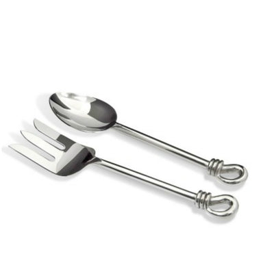Culinary Concepts Polished Knot Medium Salad Servers