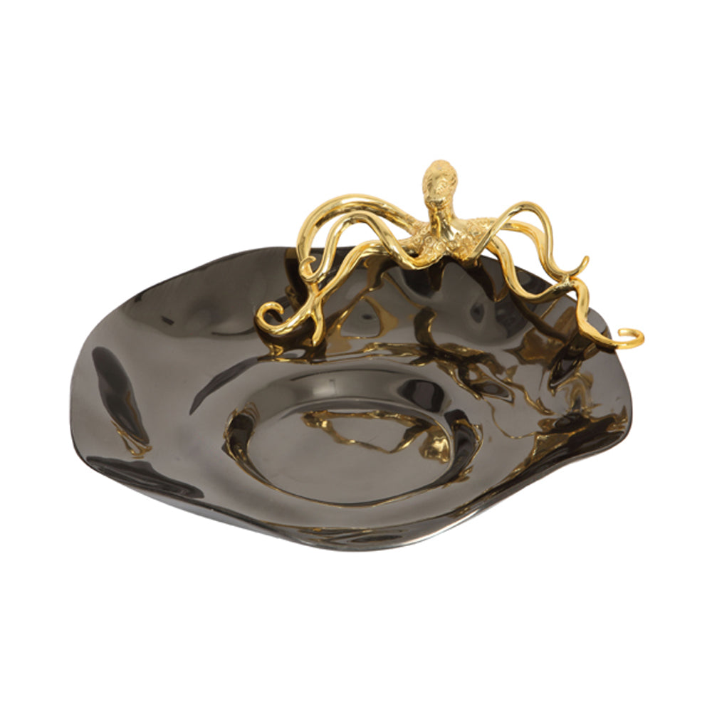 Culinary Concepts Hammered Bowl with Gold Octopus
