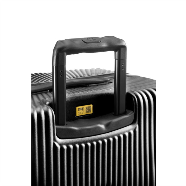 Crash Baggage Stripe Small 4 Wheel Cabin Trolley Case Black 55cm