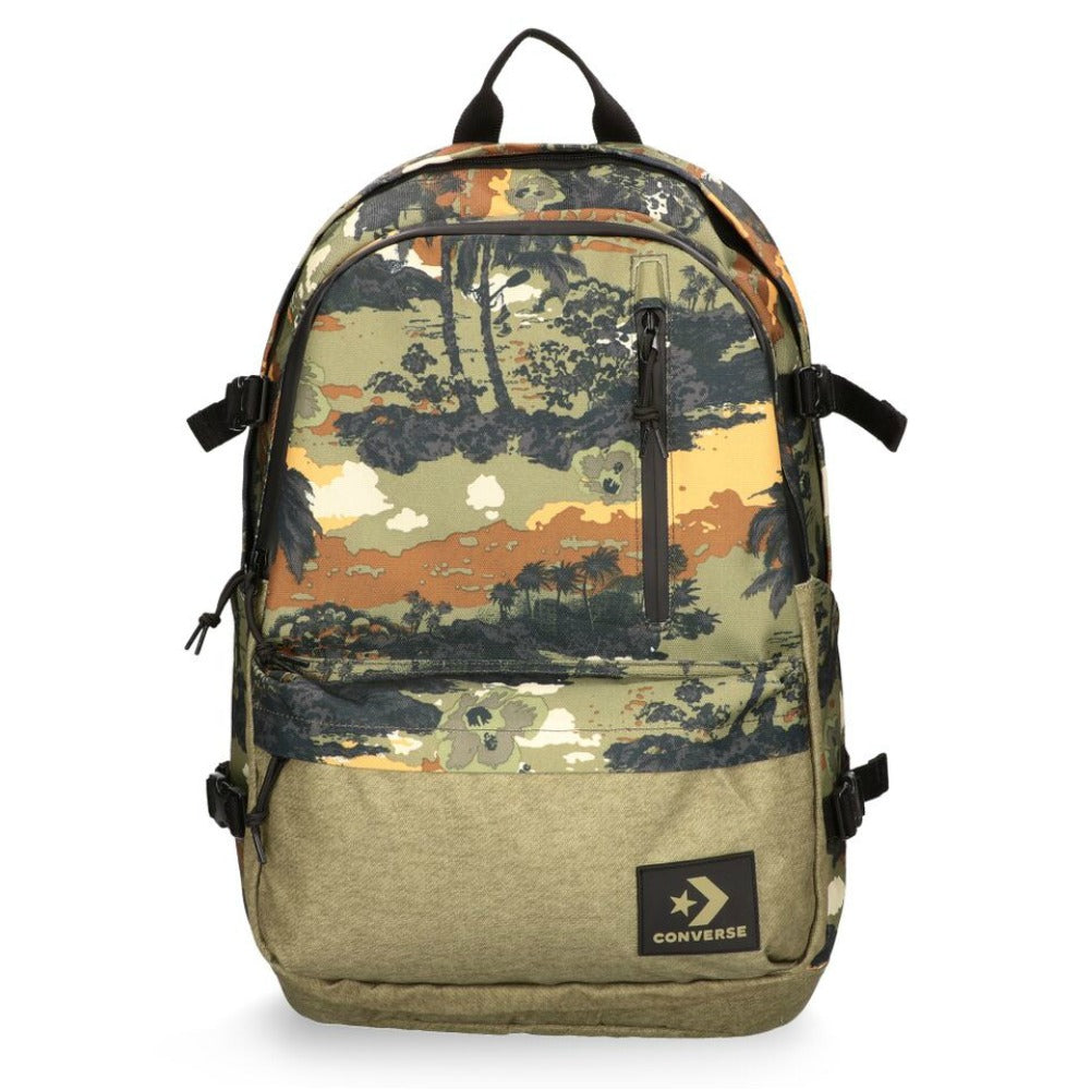 Converse Tropical Green Straight Edge Backpack Medium Olive