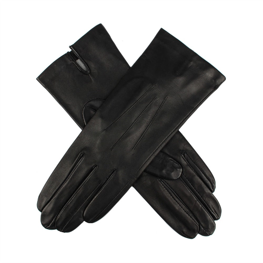 c8b40990d Dents Felicity Women's Silk Lined Plain Hairsheep Leather Gloves - Black
